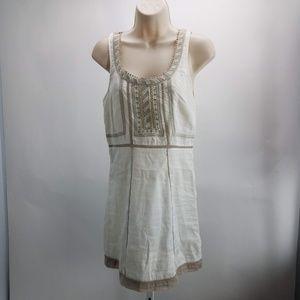 Free People Sleeveless Midi Dress Sz 2 Creaam F4